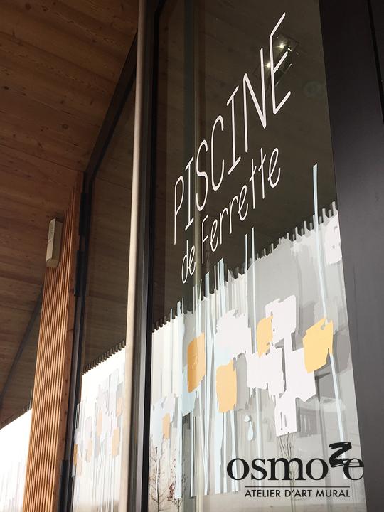Décoration et Signalétique Murale Moderne > Végétal abstrait > Piscine Ferrette > Entrée