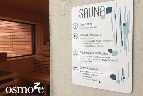 Décoration murale et signalétique artistique > Signalétique décorative > Décoration et Signalétique Murale Moderne > Art Contemporain > Piscine Ferrette > Couloir