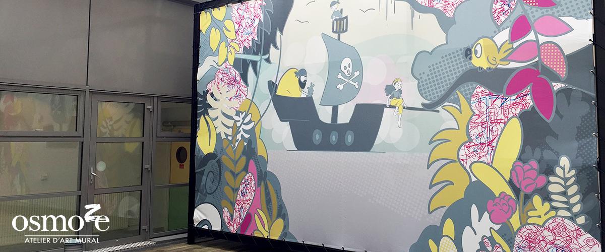 Décoration murale et signalétique artistique > Décoration et signalétique décorative > Fresque design > Mur > Extérieur