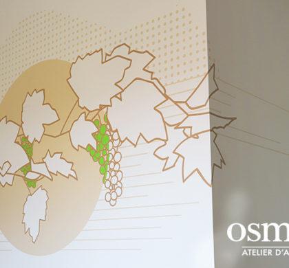 Décoration murale et signalétique artistique > Décoration et Signalétique Murale Contemporaine > Végétale > Centre Hospitalier de Apt > Chambre