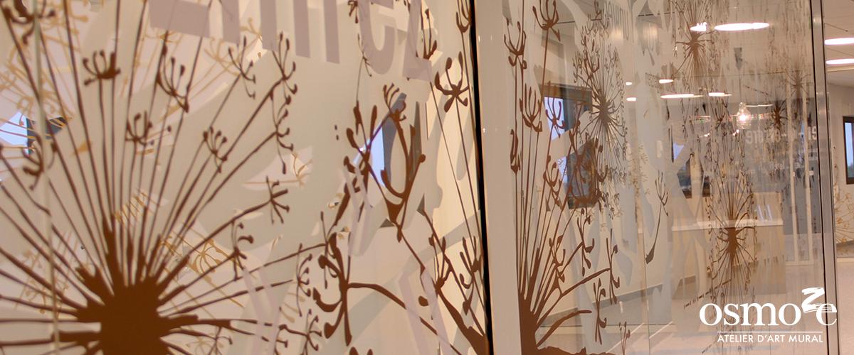 Décoration murale et signalétique artistique > Décoration et signalétique décorative > Fresque design > Vitrophanies