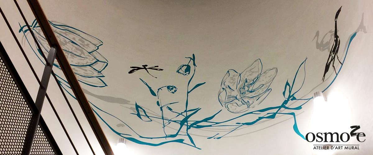 Décoration murale et signalétique artistique > Décoration et signalétique décorative > Fresque design > Plafond