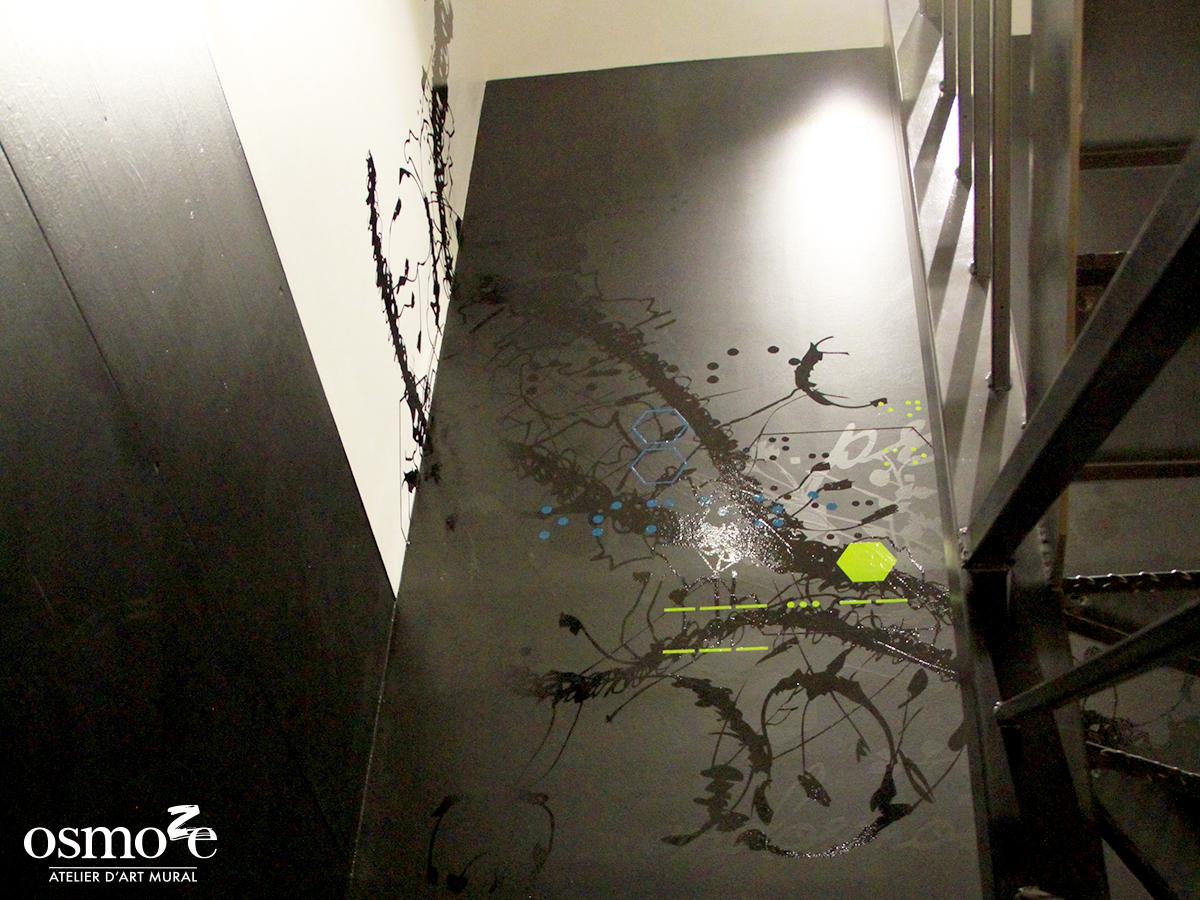 Décoration murale et signalétique artistique > Fresque design > Atelier Osmoze > Escaliers