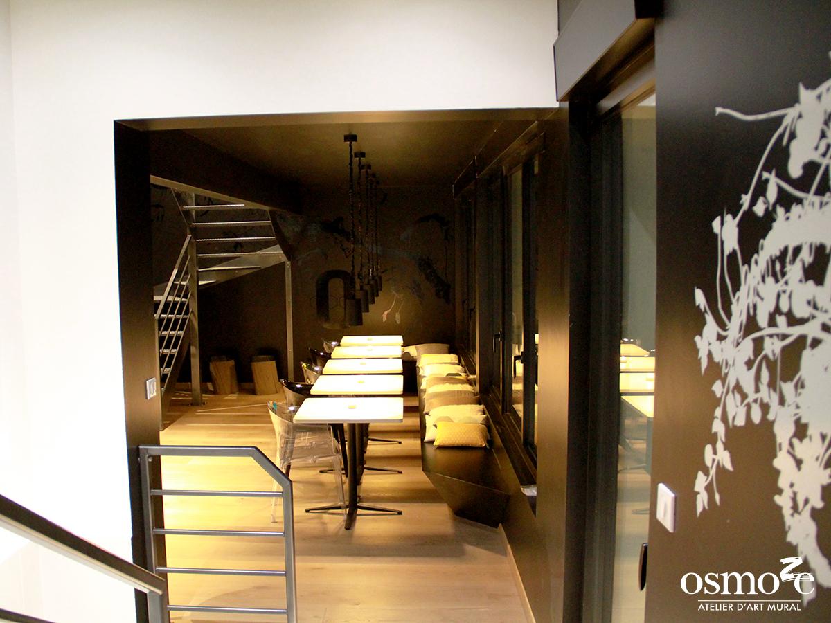 Décoration murale et signalétique artistique > Fresque design > Atelier Osmoze > Salle à manger