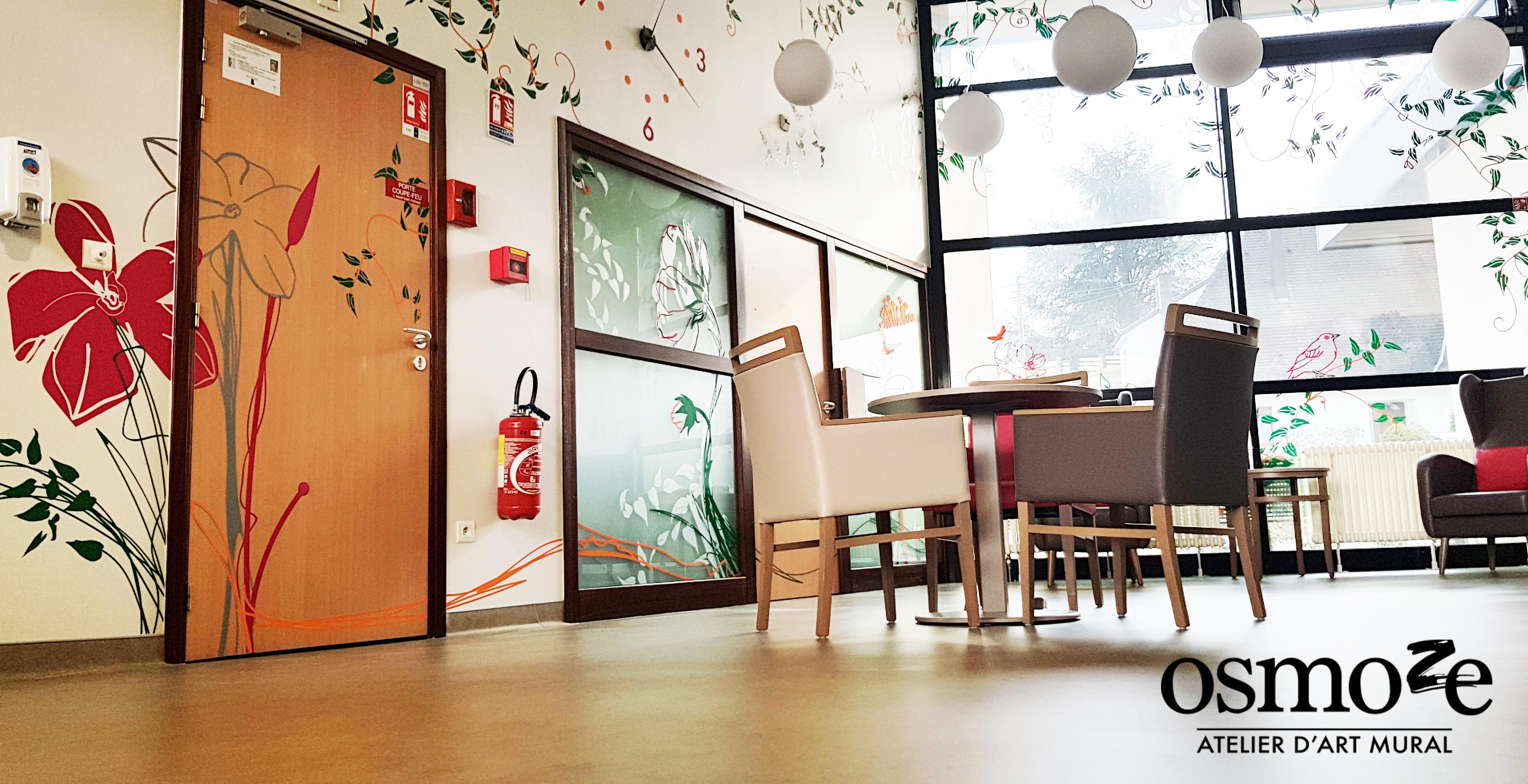 Décoration murale et signalétique artistique > Osmoze > Fresque design > Pfafstatt
