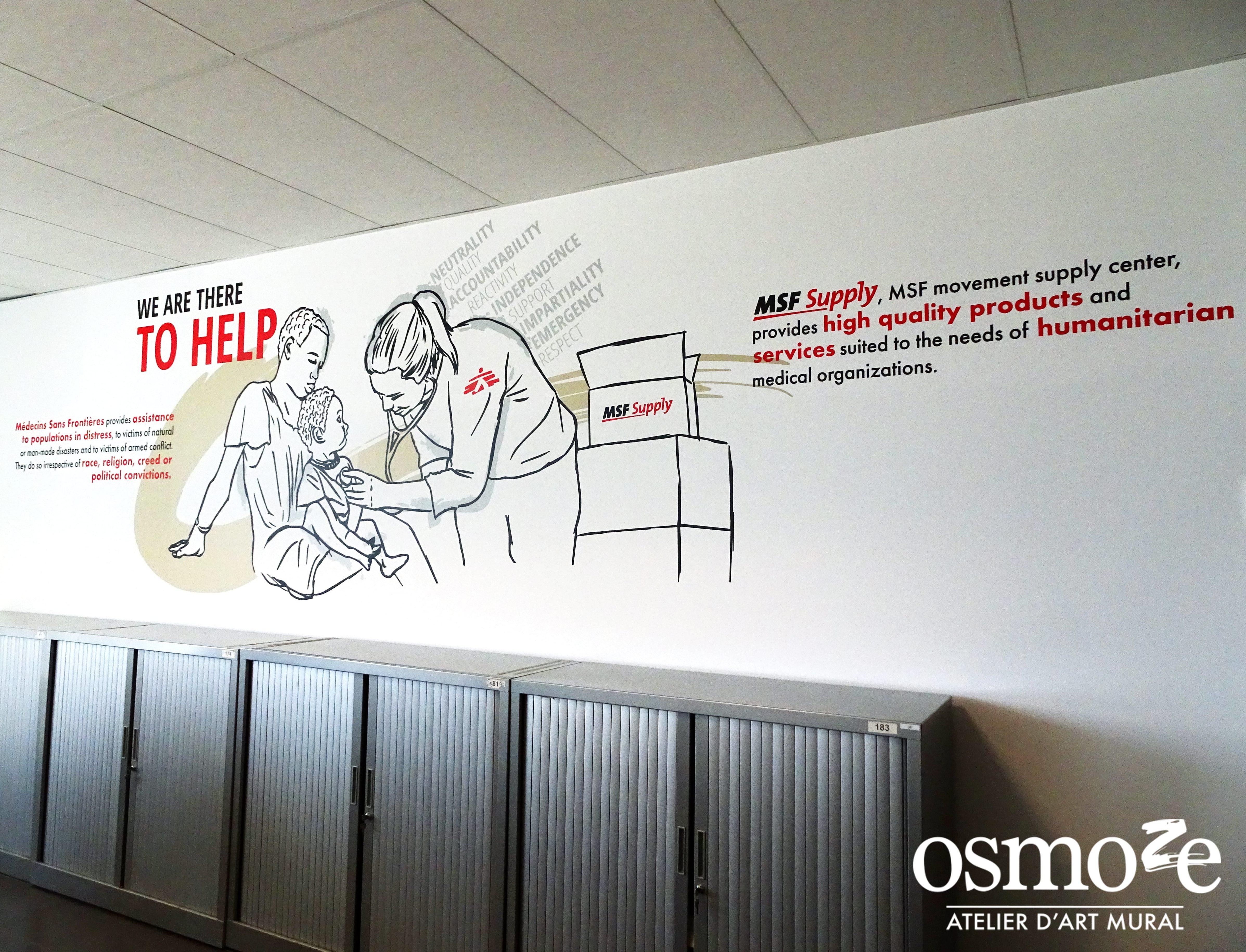 Décoration murale > Fresque design > Osmoze > MSF Supply > Belgique > Bruxelles