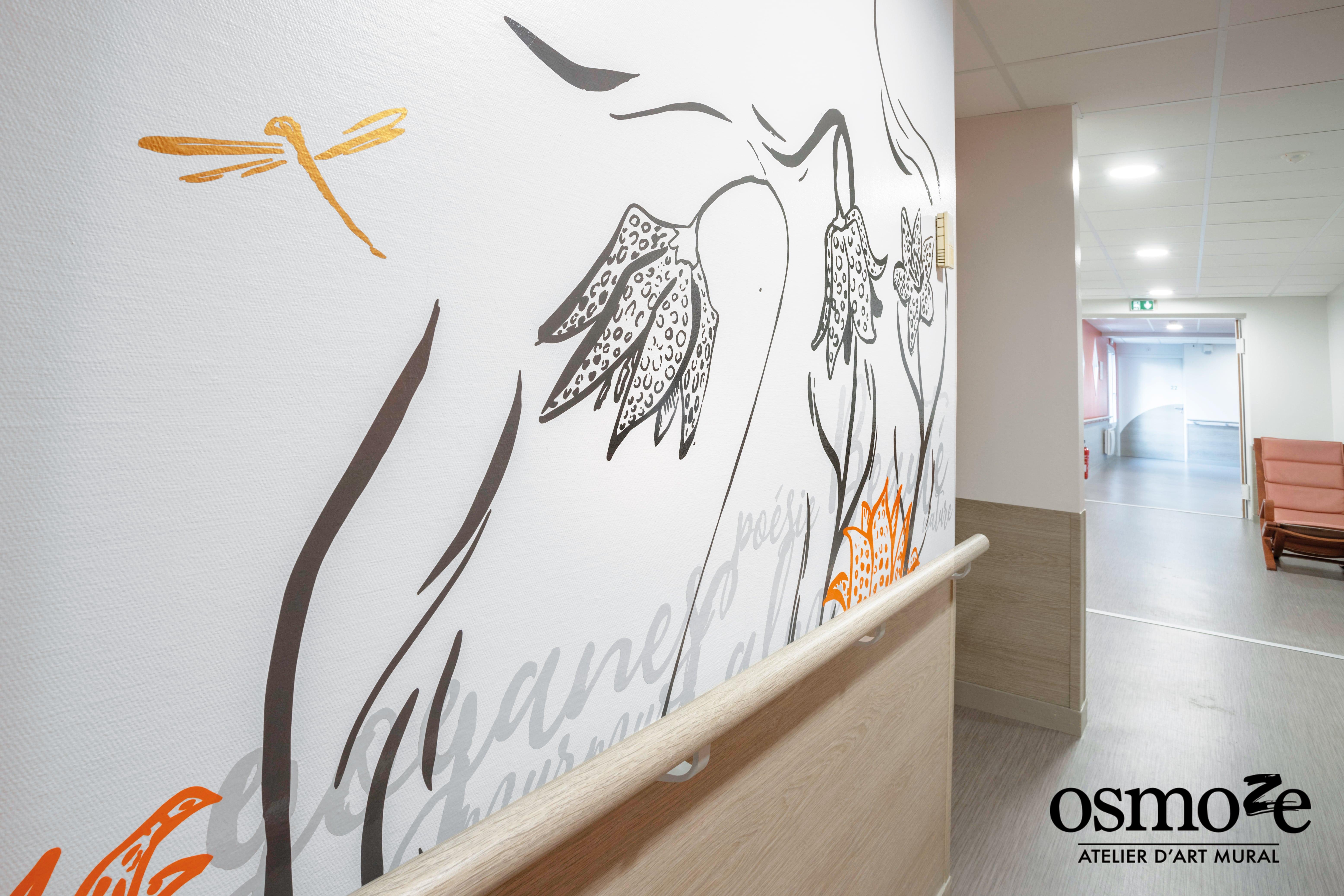 Décoration murale et signalétique > Osmoze > Fresque design > La Possonière