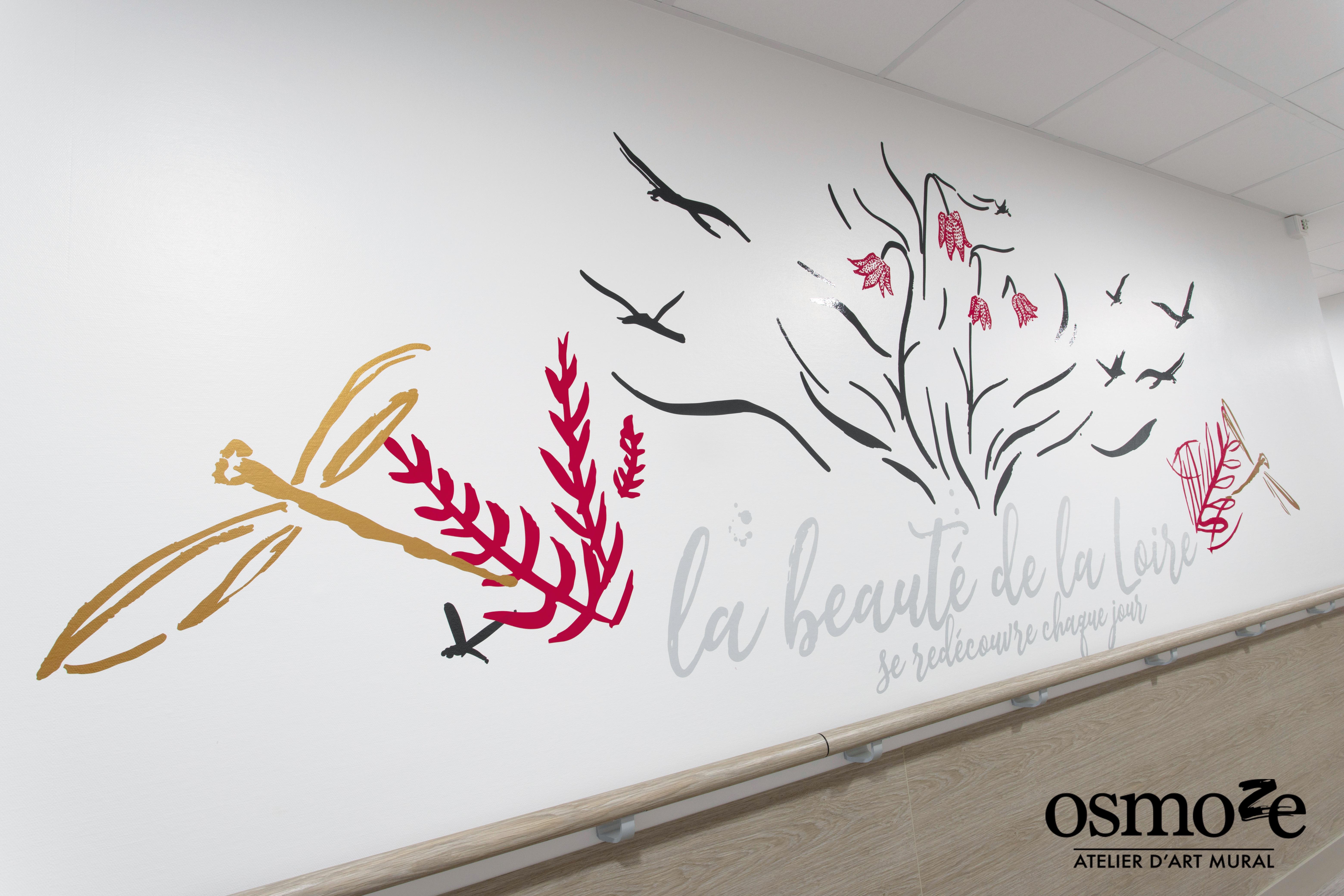 Décoration murale et signalétique > Osmoze > Fresque design > La Possonière > EHPAD > Angers