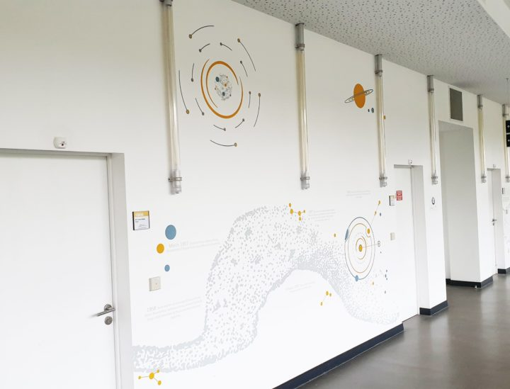 Décoration murale > Vitrophanie > Osmoze > Fresque design > ITER > France > Russie > UE > USA > Chine > Inde > Japon > Corée
