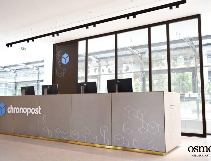 Chronopost > Paris > Vitrophanie > Signalétique décorative > Signalétique bureaux > Desk
