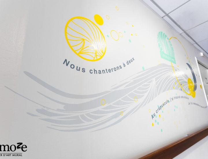 Osmoze > Ehpad Katrine Labouré > Décoration murale > Etoile