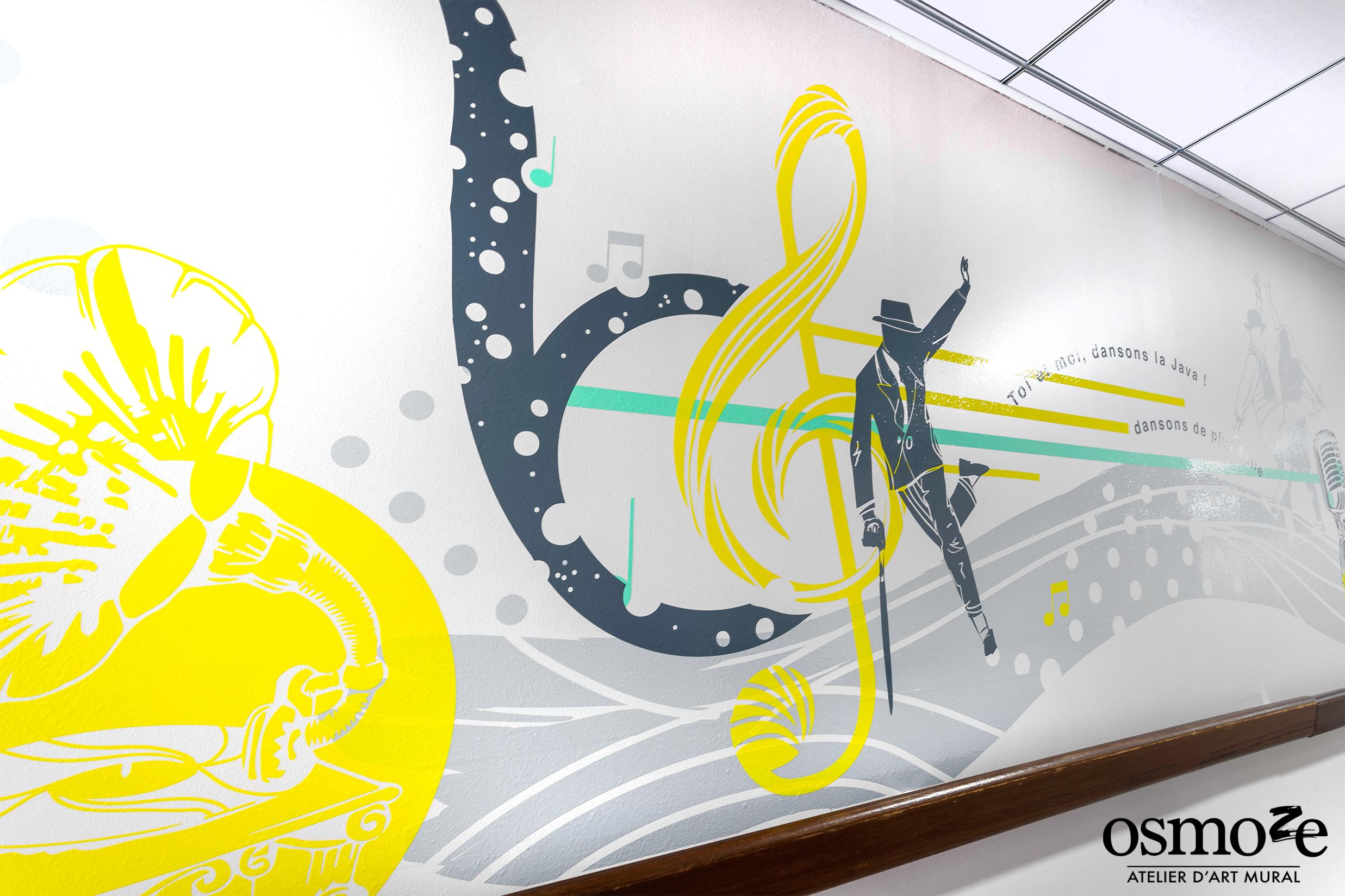 Osmoze > Ehpad Katrine Labouré > Décoration murale > musique