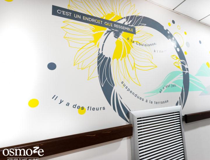 Osmoze > Ehpad Katrine Labouré > Décoration murale > Fleur