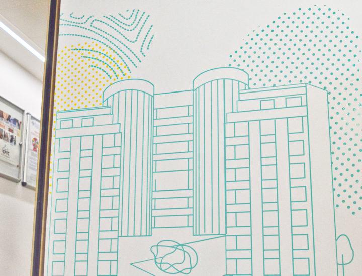 Osmoze > Décoration murale > ICADE > Immobilier
