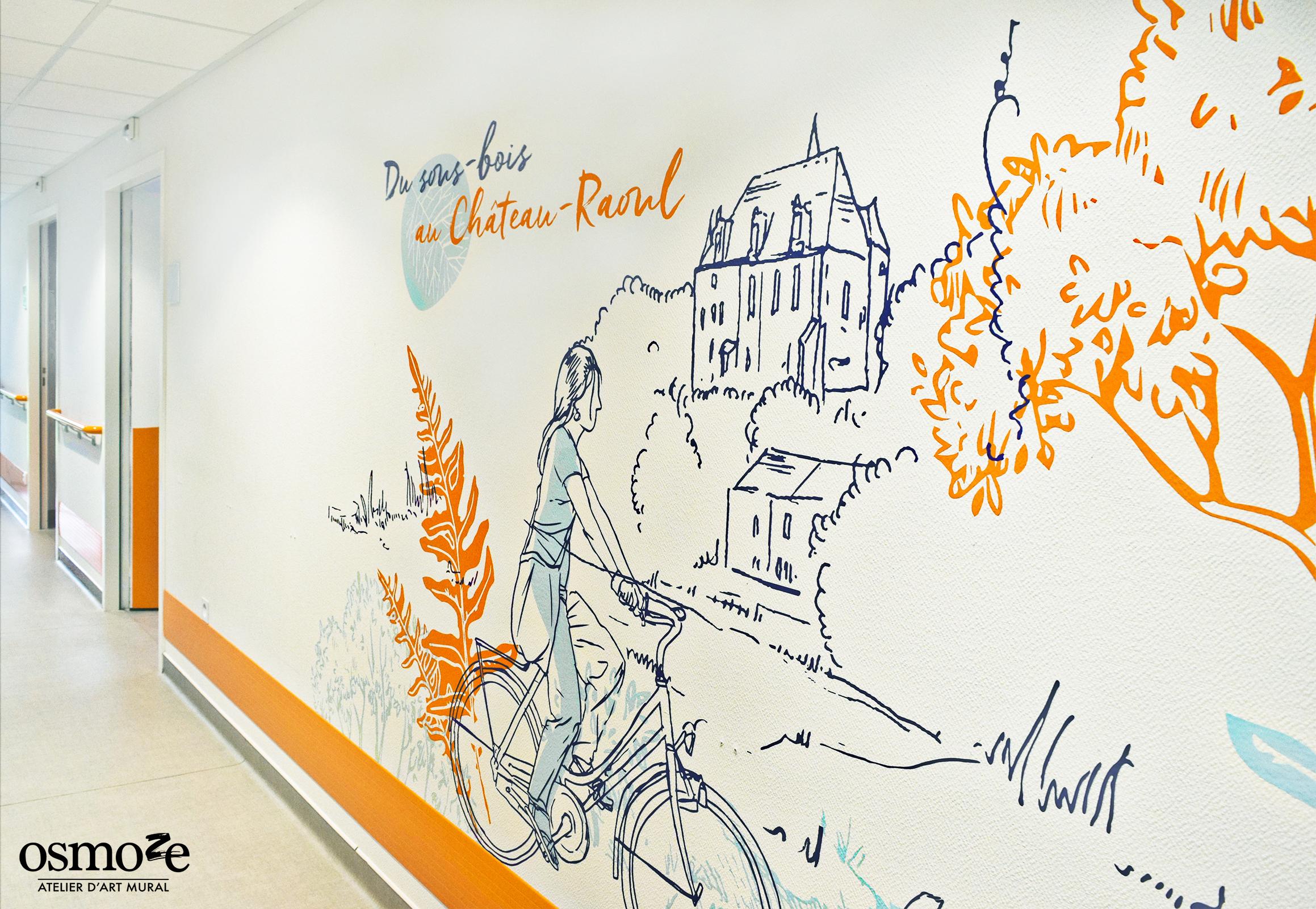Osmoze > Décoration murale > Ehpad Chateauroux > Vélo