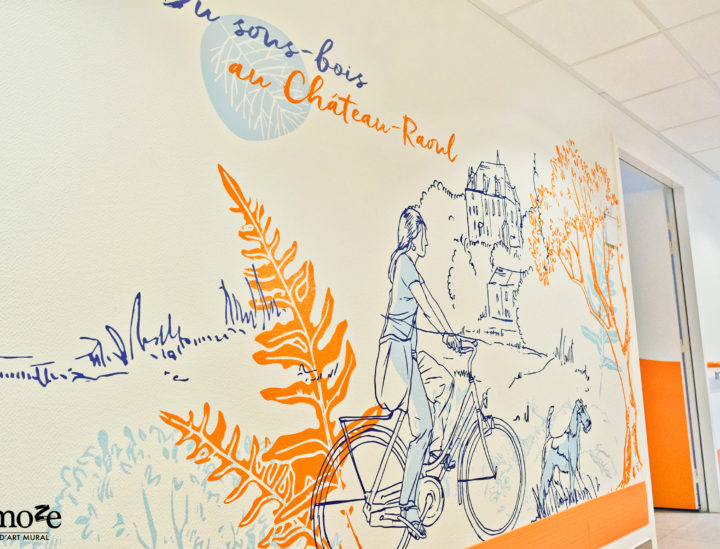 Osmoze > Décoration murale Ehpad > Ehpad Chateauroux > Vélos