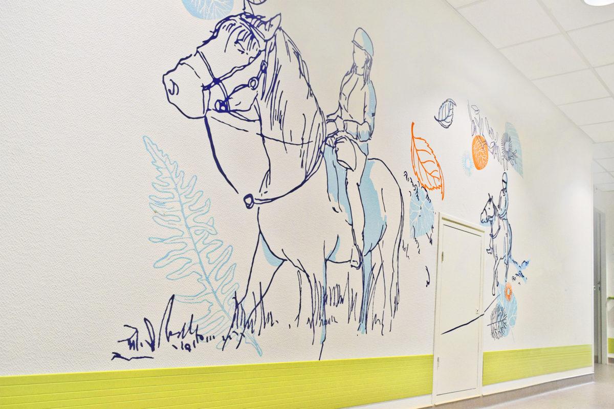 Osmoze > Décoration murale > Ehpad Chateauroux > Chevaux