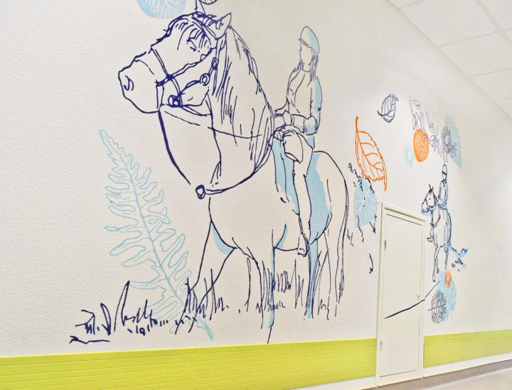 Osmoze > Décoration murale > art mural > Ehpad Chateauroux > Chevaux