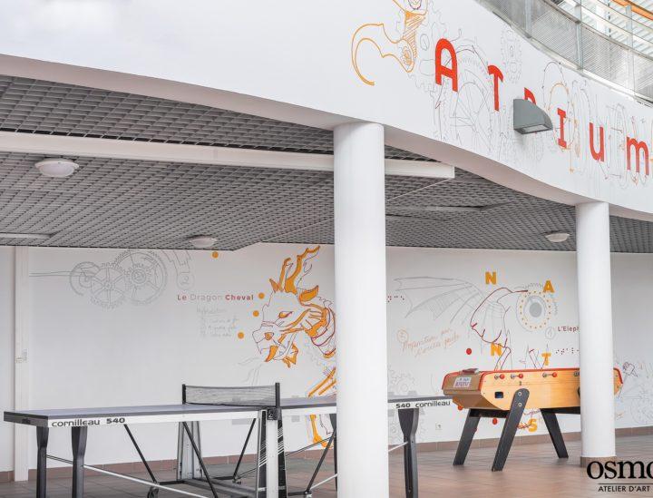 Décoration murale étudiants > CROUS Nantes > Abysses