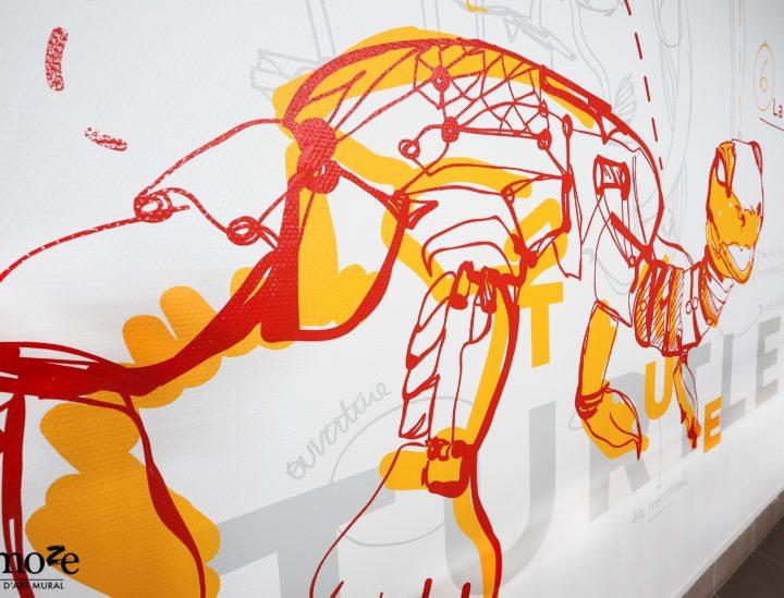 Décoration murale CROUS Nantes > Tortue