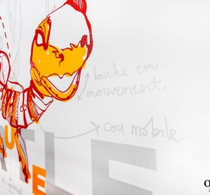 Décoration murale CROUS > Nantes > Tortue
