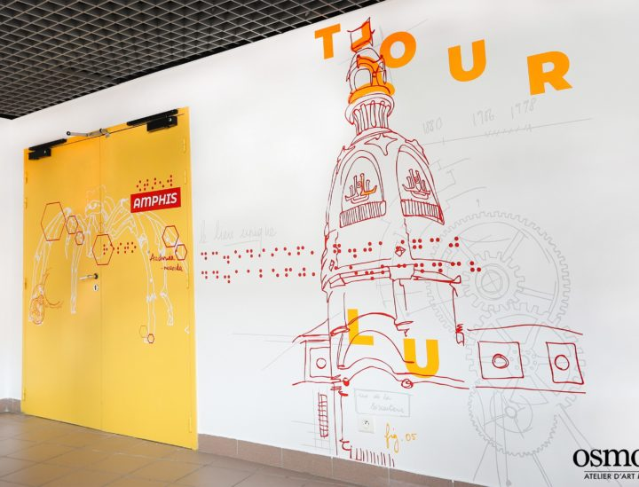 Décoration murale CROUS Nantes > Tour