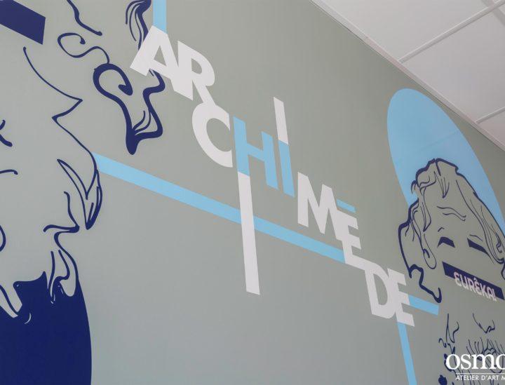 Fresque murale CROUS Lyon