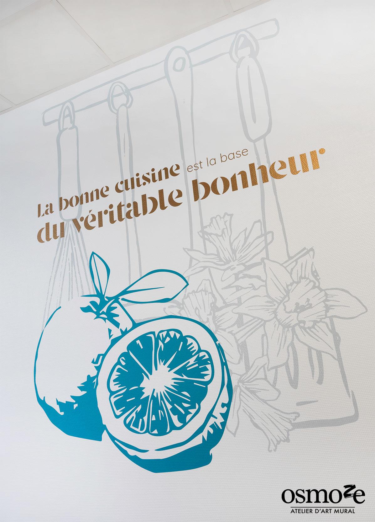 Fresque murale EHPAD > Les hortensias > cuisine