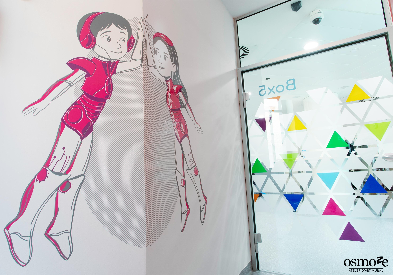 Signalétique clinique, décoration murale et vitrophanie > HUDERF