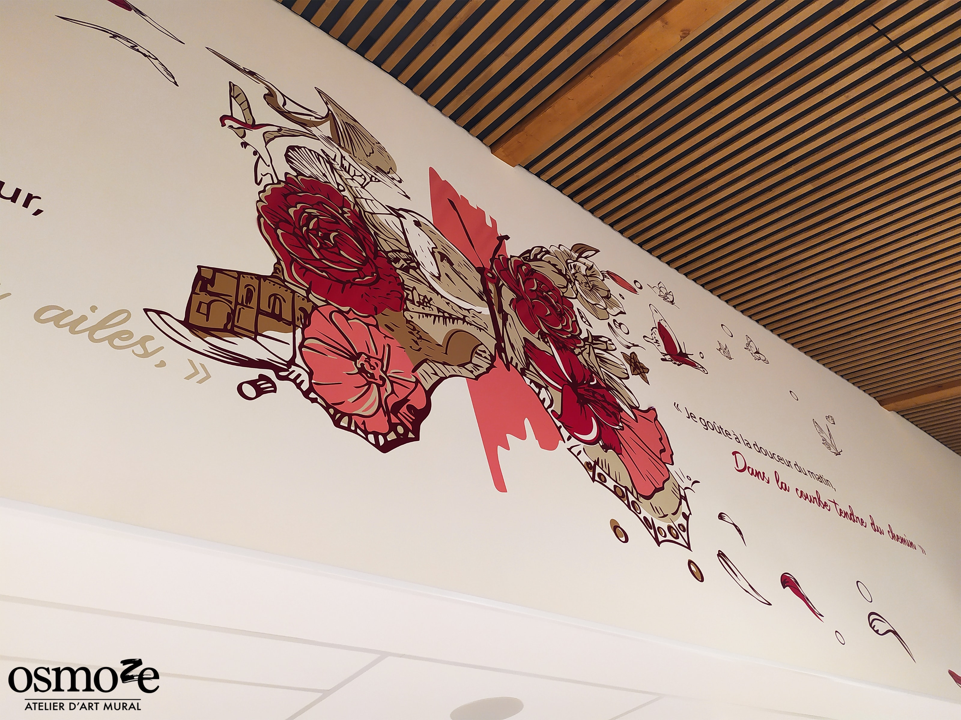 Fresque murale Ehpad > Emilien Bouin > Zoom casquette