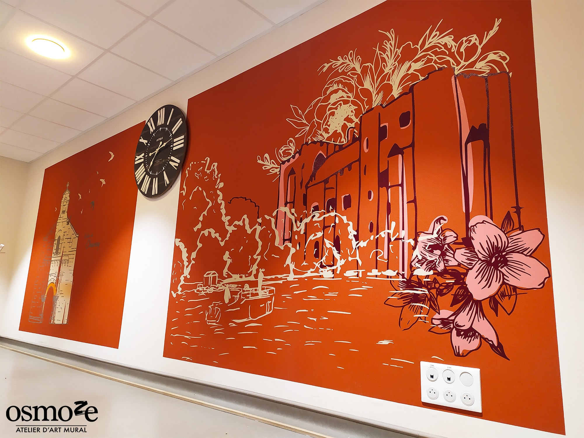 Décoration murale colorée > Ehpad Emilien Bouin