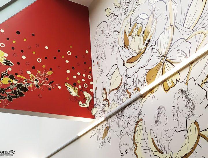 Décoration murale hôpital - Ch Versailles