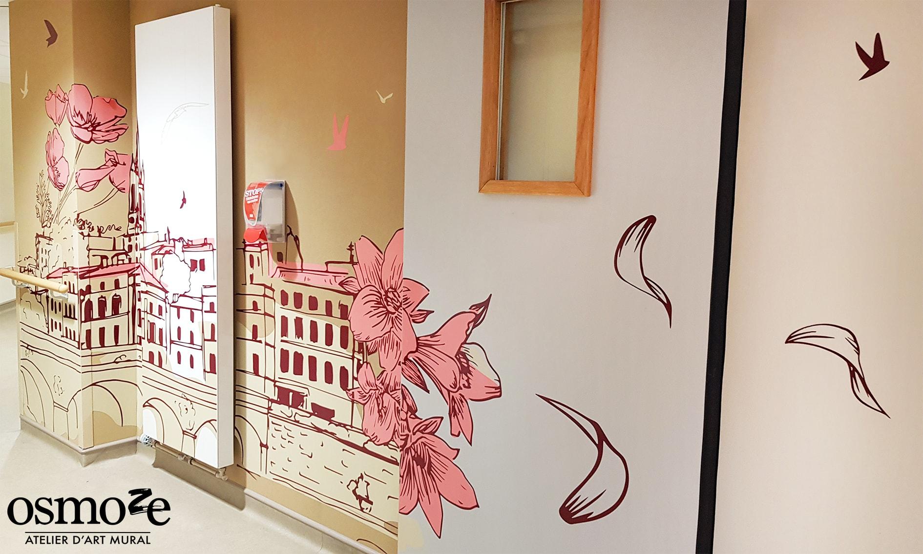Décoration murale multi-surfaces > Ehpad Emilien Bouin