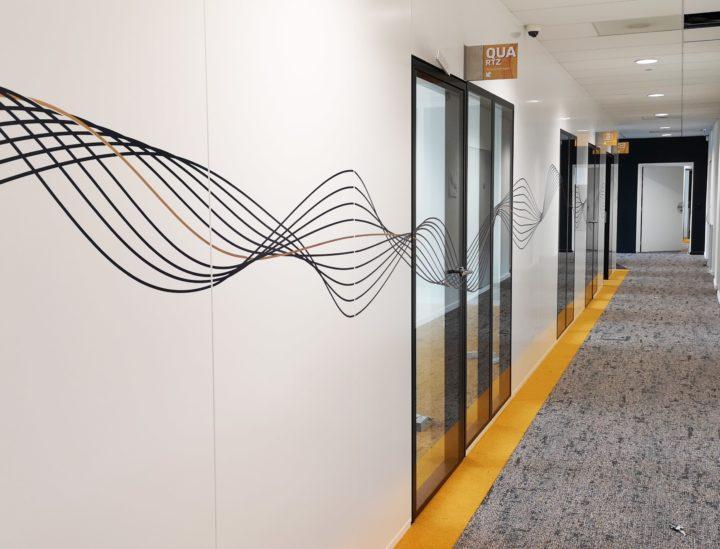 Décoration couloir > Crédit mutuel Lille