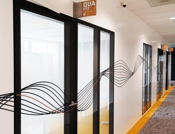 Frise décorative couloir > Crédit mutuel Lille