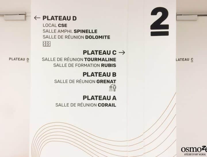 Signalétique de bureaux > Crédit mutuel Lille