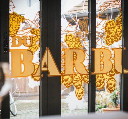 Vitrophanie feuillages > Le Bistrot du Barbu