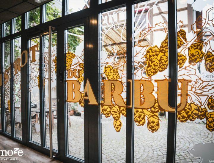 Vitrophanie restaurant > Le Bistrot du Barbu