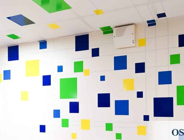 Sticker mur et plafond > espace de coworking