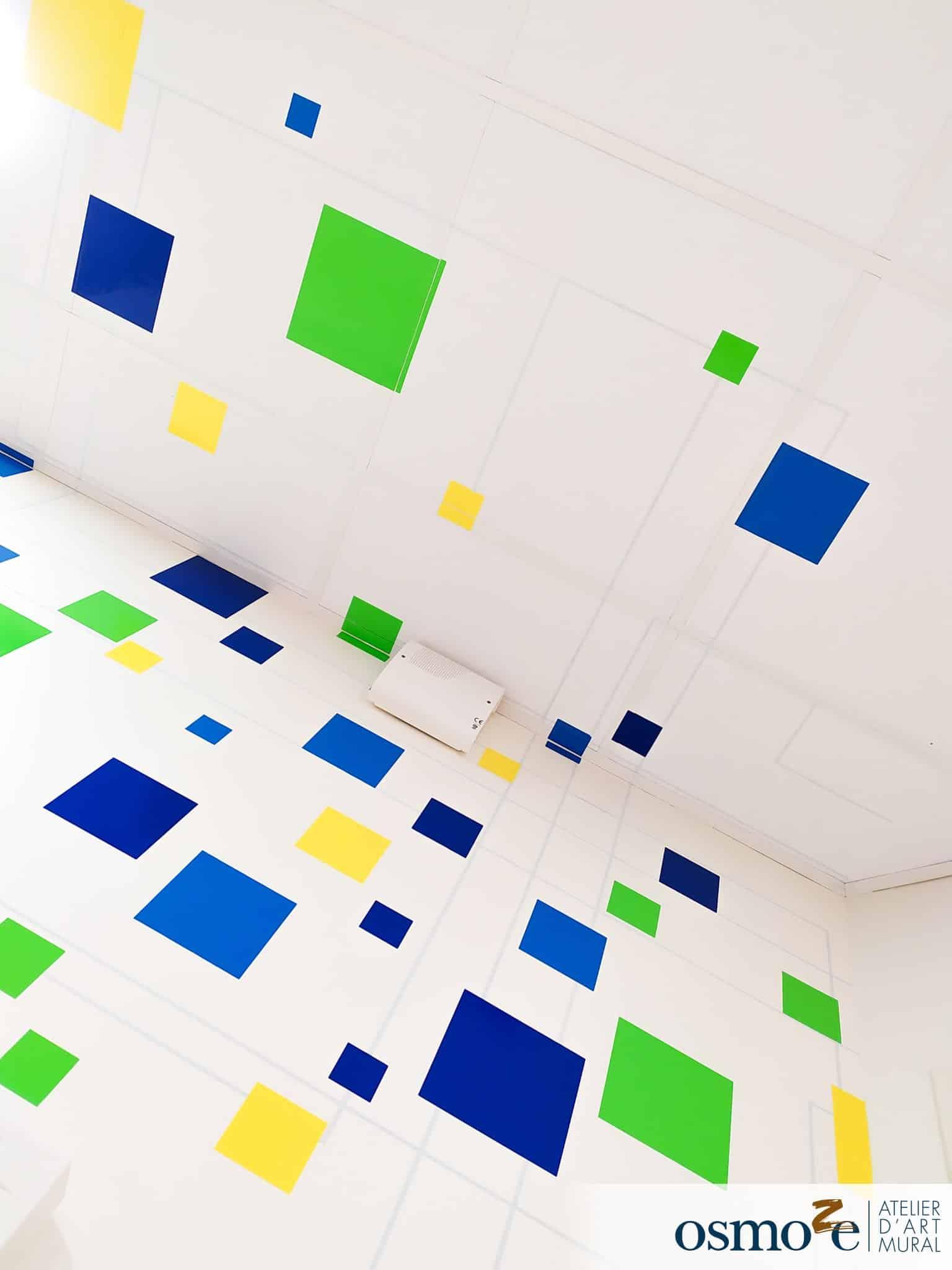 Décoration murale multi-surface > espace de coworking