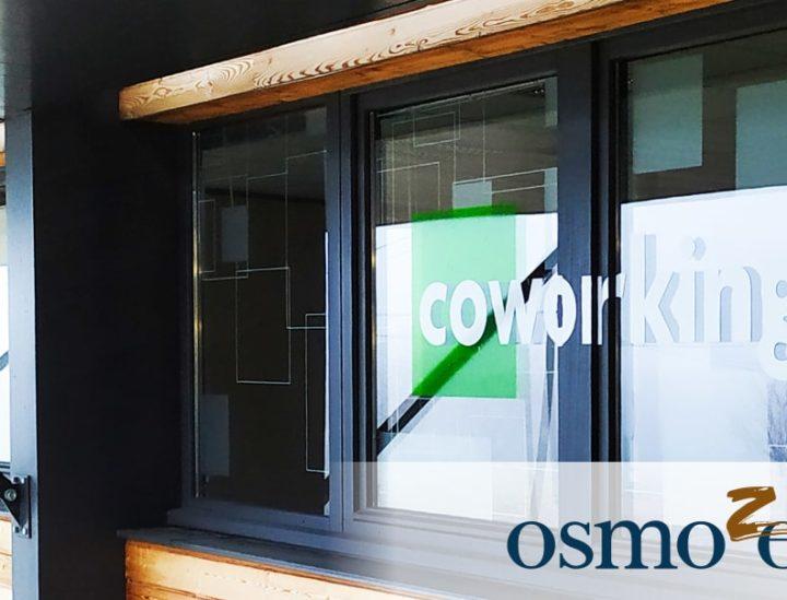 Décoration vitre > espace de coworking