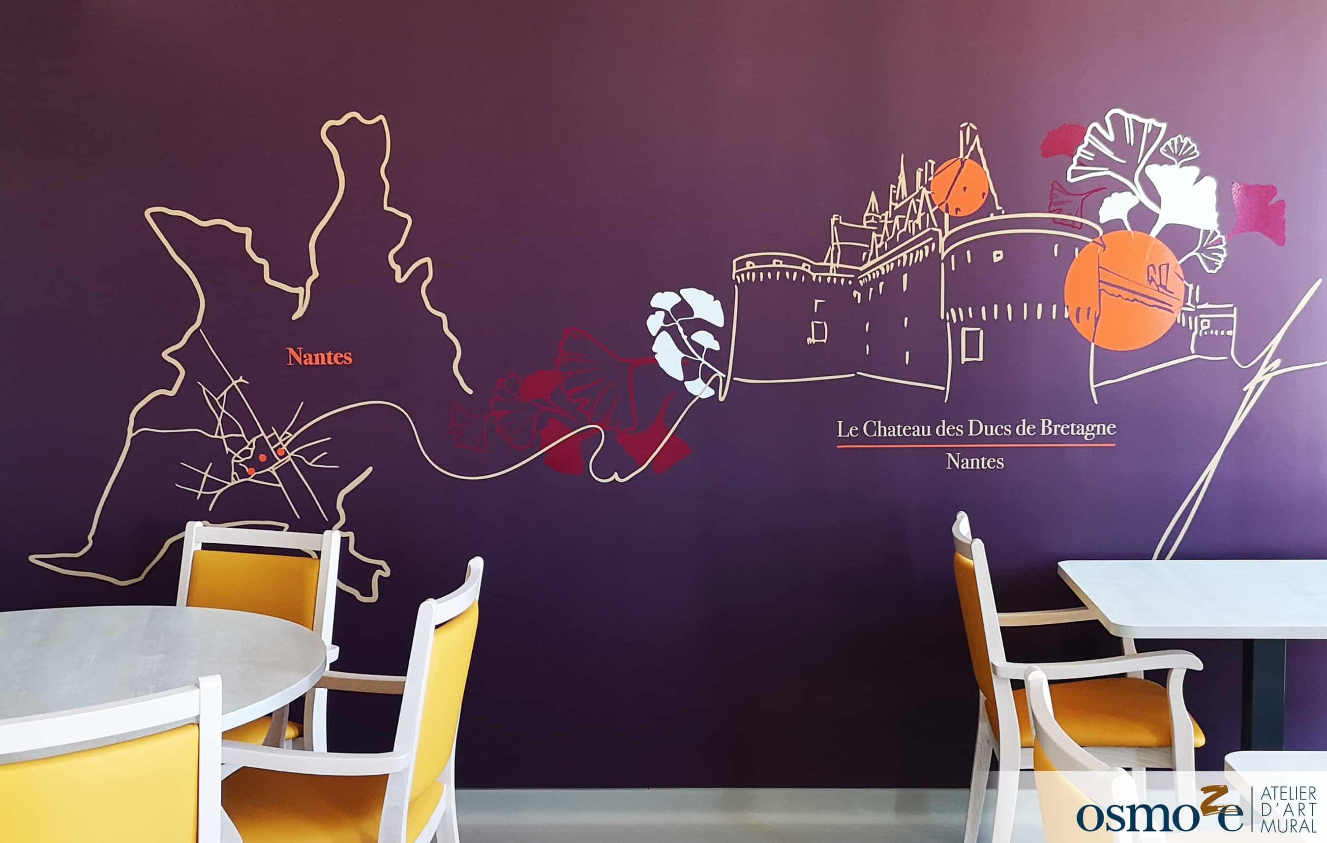 décoration murale réfectoire >CHCA