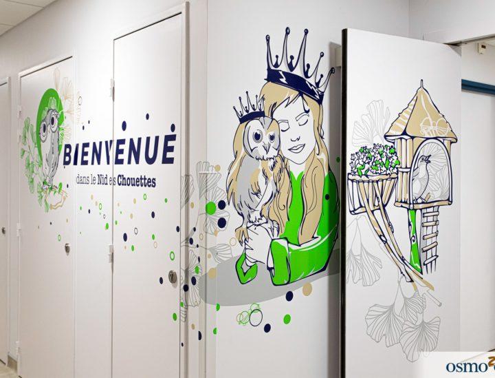 Décoration clinique enfants > CHU Dijon
