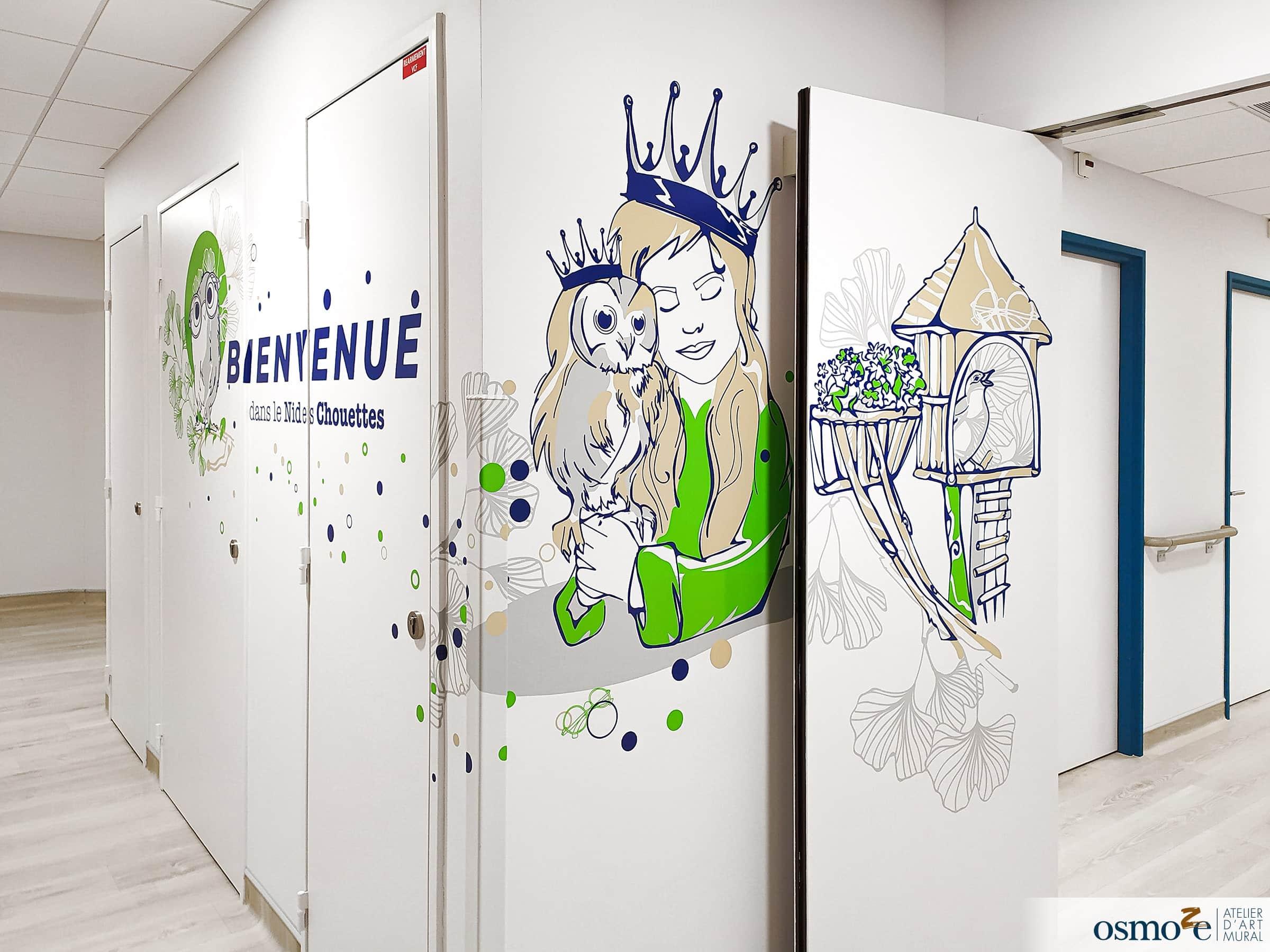 Décoration couloirs hôpital enfants > CHU Dijon