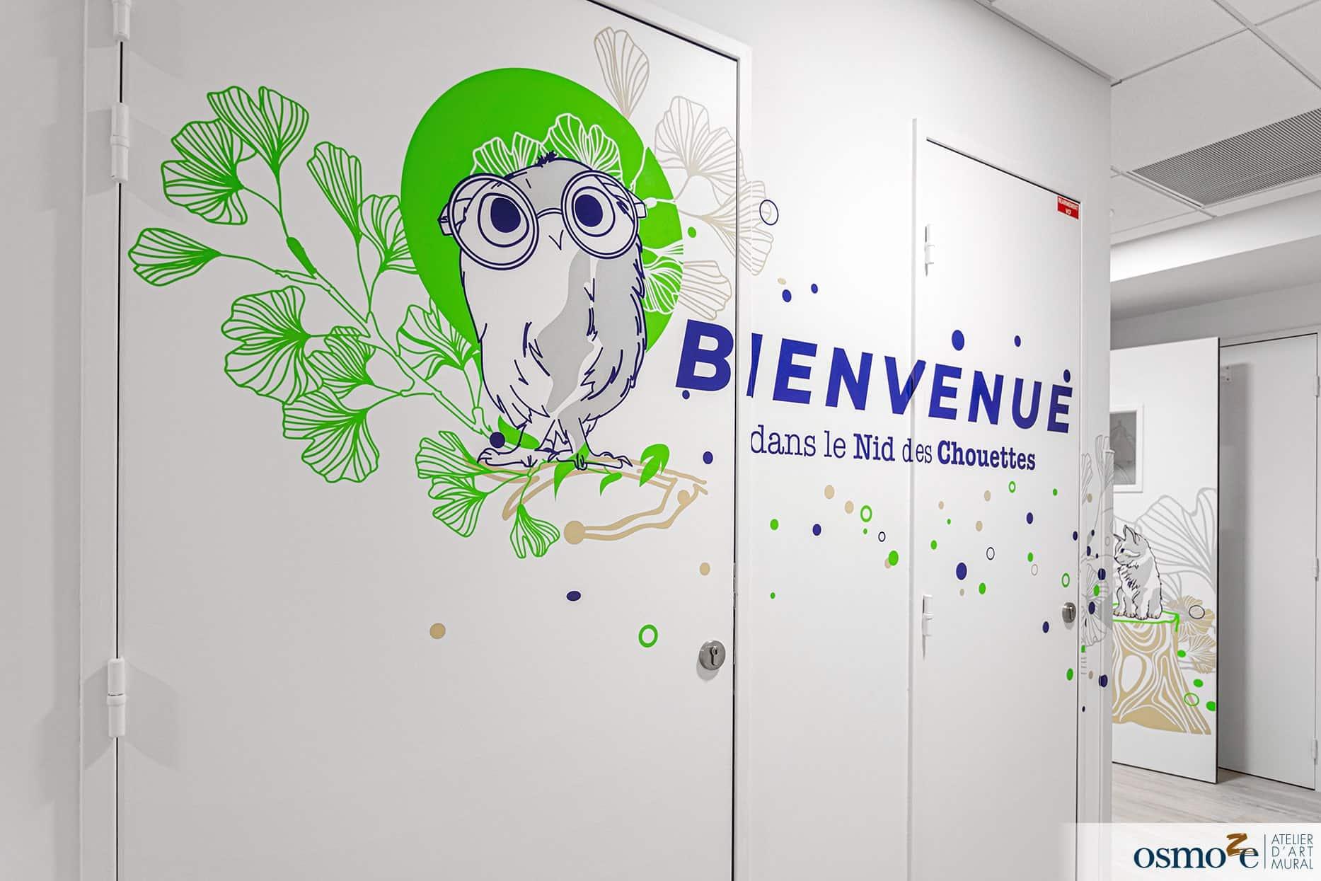Décoration murale clinique enfants > CHU Dijon