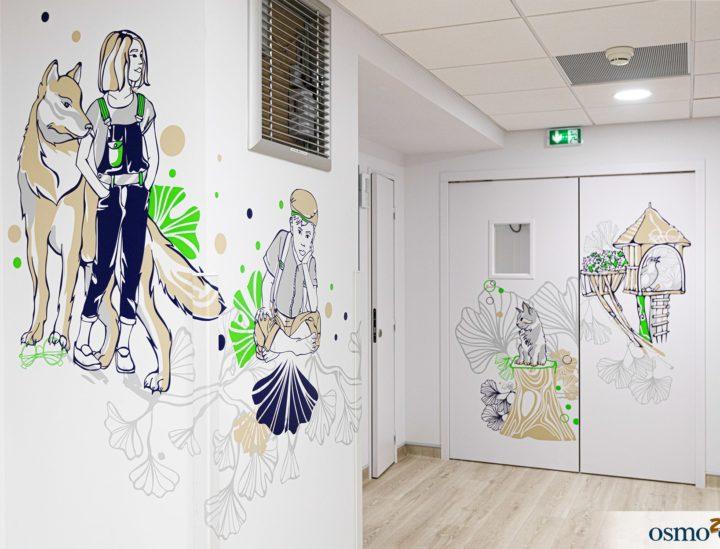 Décoration murale enfants > CHU Dijon