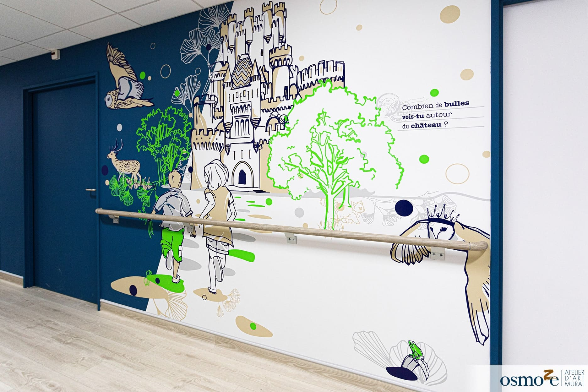 Décoration murale hôpital enfants > CHU Dijon