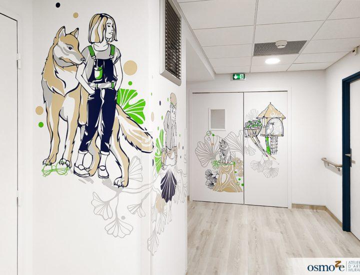 Décoration murales clinique enfants > CHU Dijon