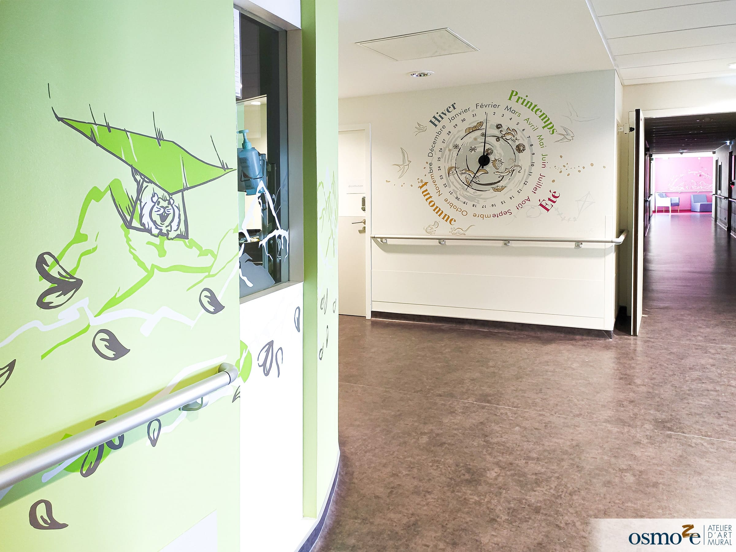 Décoration murs clinique enfants > MGEN