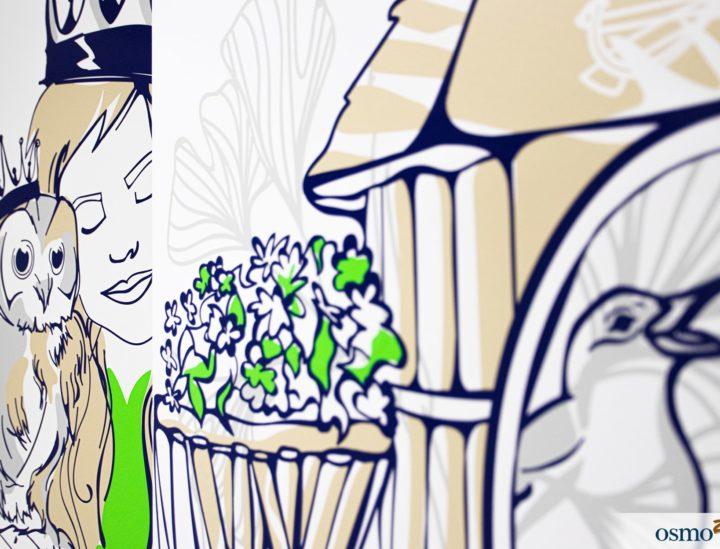 Design mural hôpital enfants > CHU Dijon